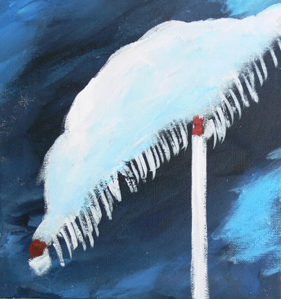 acrylic painting snow D