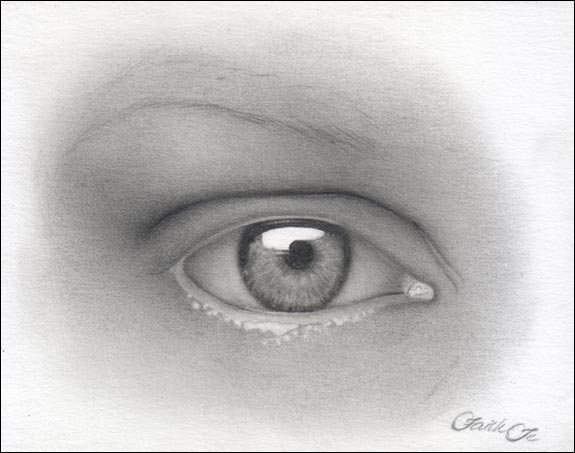 female eye pencil drawing f 10