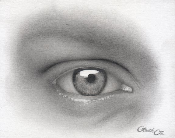 female eye pencil drawing f 11