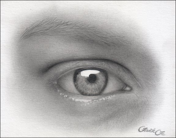 female eye pencil drawing f 12