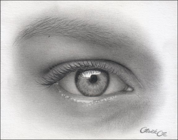 female eye pencil drawing f 13