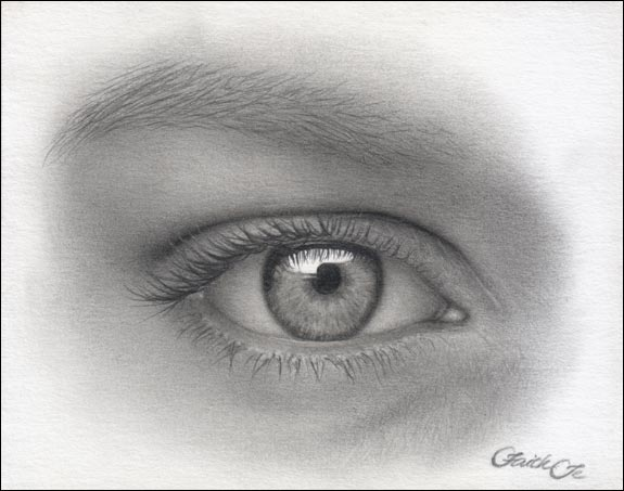female eye pencil drawing f 14