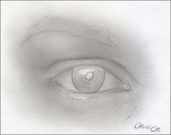 female eye pencil drawing f 3