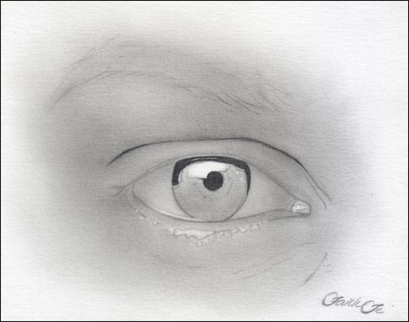 Female Eye Pencil Drawing Tutorial Step 5