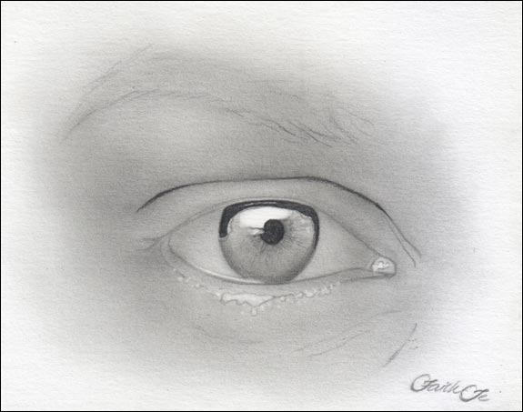 Female Eye Pencil Drawing Tutorial Step 6