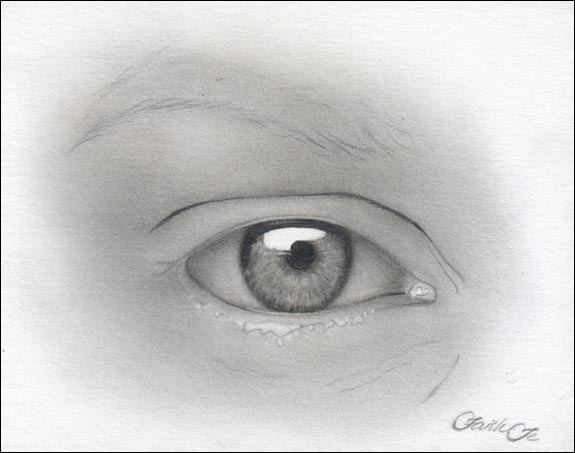 Female Eye Pencil Drawing Tutorial Step 8