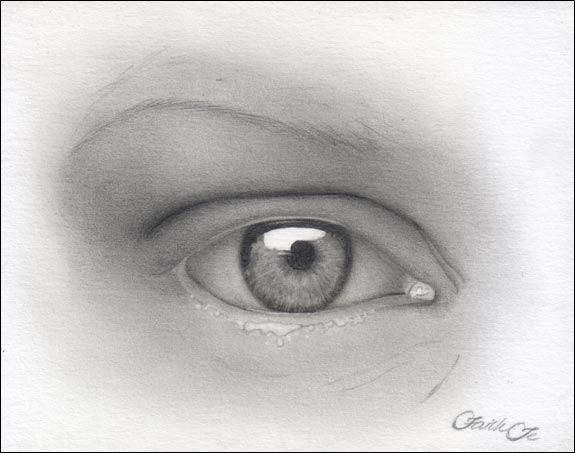 Female Eye Pencil Drawing Tutorial Step 9