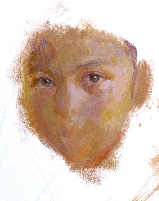 Oil Painting Portrait Tutorial - Brittany