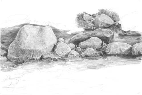 Rock Drawing Lesson 10