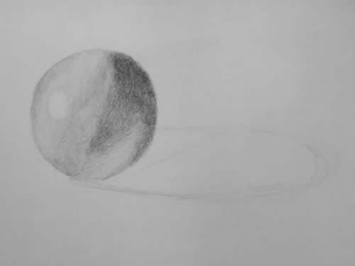 Beginner Drawing - Shade Sphere 3