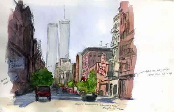 Painting Demonstration in Watercolor and Gouache