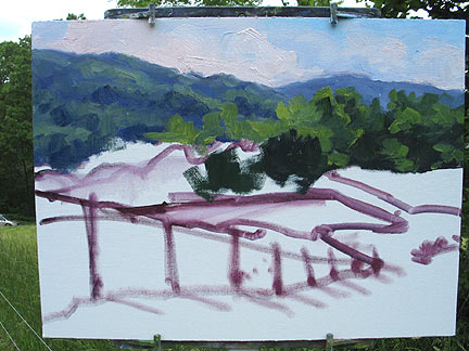 Plein air painting instruction Jennifer Young
