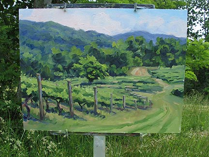 Plein air painting by Jennifer Young