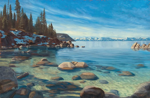 secret cove oil painting lesson