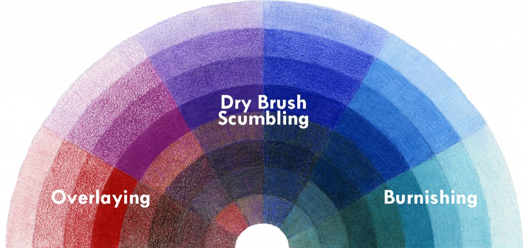 Colored Pencil Tutorial - Overlaying Dry Brush Scumbling Burnishing