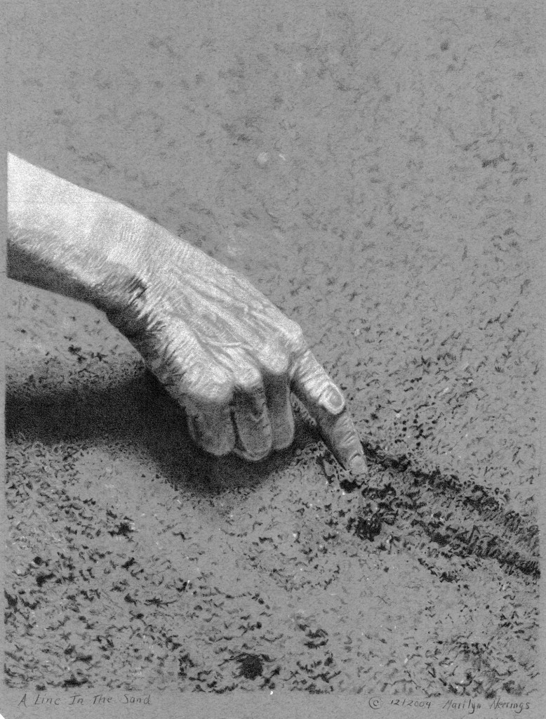 A Line in the Sand by Marilyn Neerings - Colored Pencil Lesson