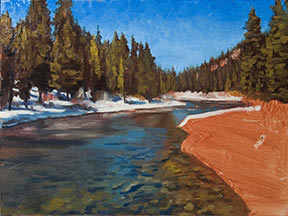 Landscape oil painting demonstration truckee early spring