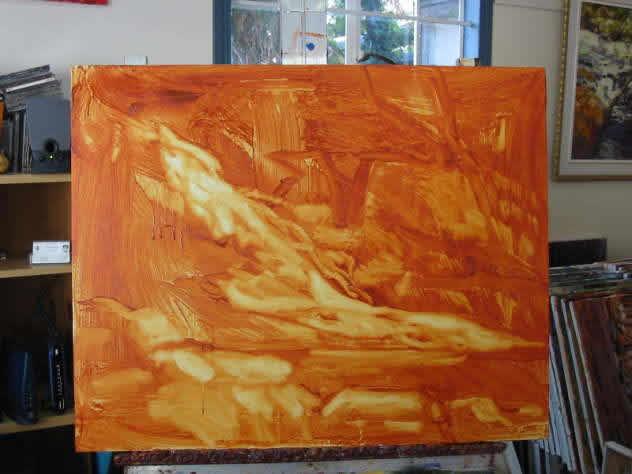 4 demonstração pintura acrílica