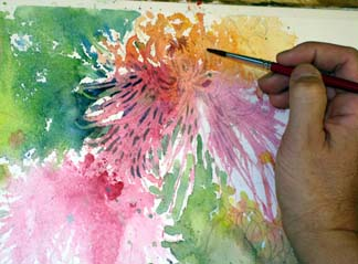 how to paint flowers 12