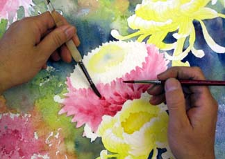 watercolor flower demonstration 9