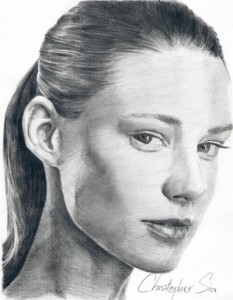 Christopher Sia Pencil Portrait Drawing