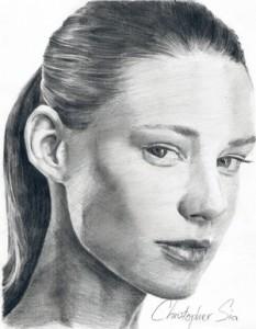 Christopher Sia Pencil Portrait Drawing