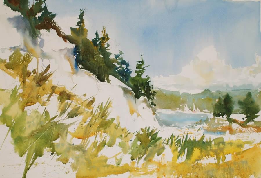 watercolor landscape techniques