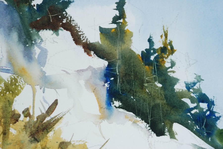 watercolor landscape tutorial step by step