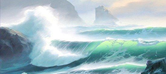 Oil Painting Wave Techniques Image