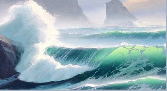 oil painting wave techniques 11