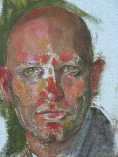 oil portrait painting demo by chris saper