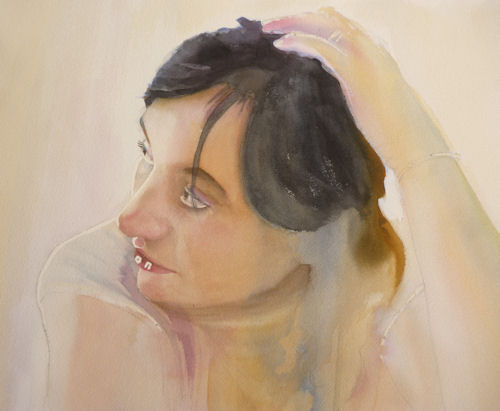 watercolour portrait demo 12