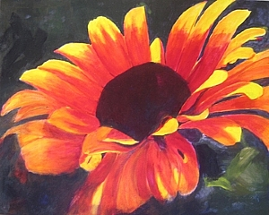 flower painting acrylics 6