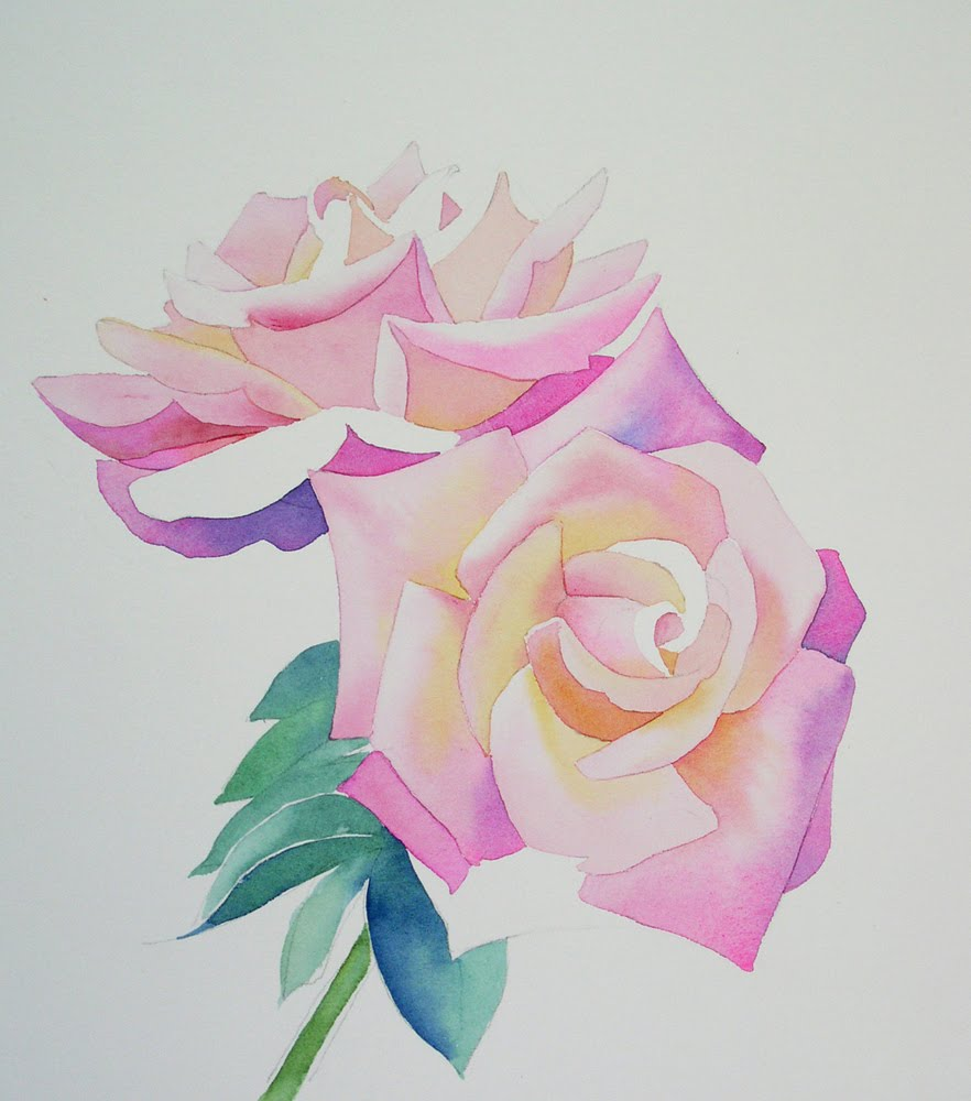 Painting a Rose in Watercolour 5