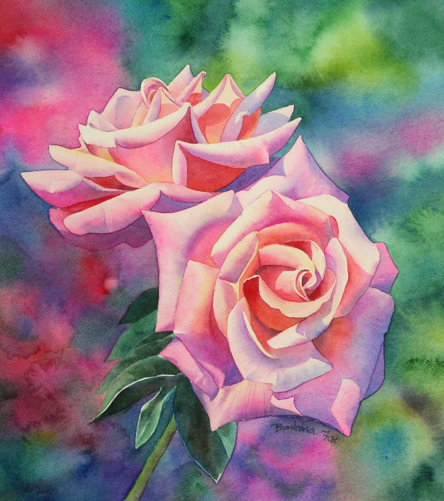 Watercolor rose painting tutorial step by step for How to paint a rose watercolor