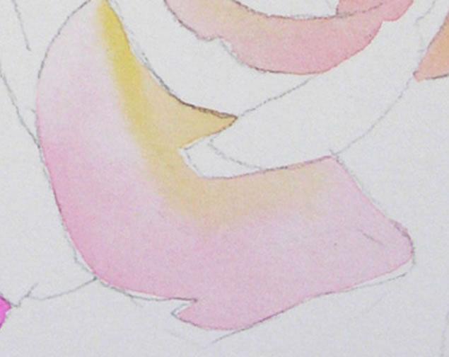 Watercolor Rose Tutorial 3