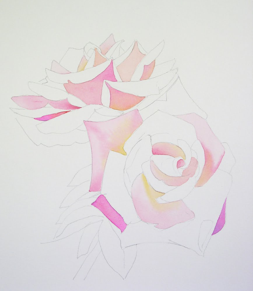 Watercolor Rose Painting Demo 2