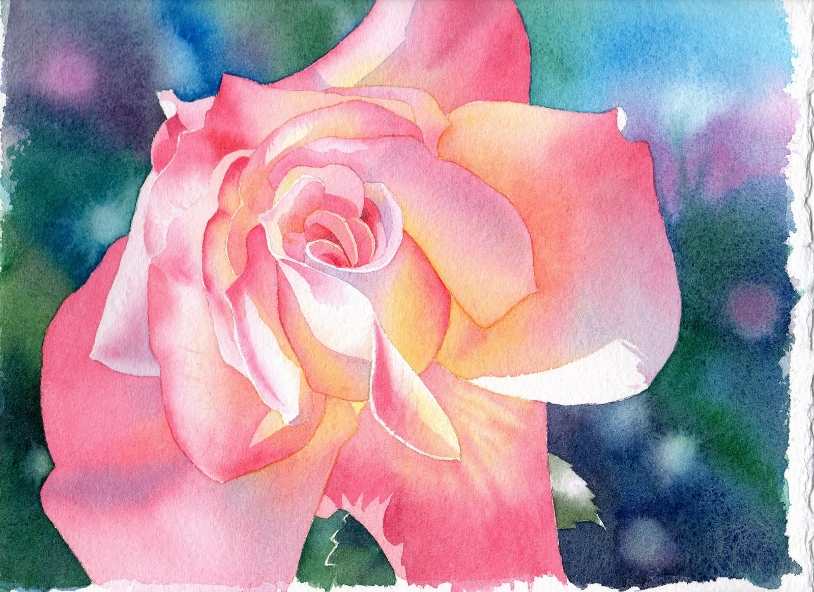 How To Paint A Flower In Watercolour