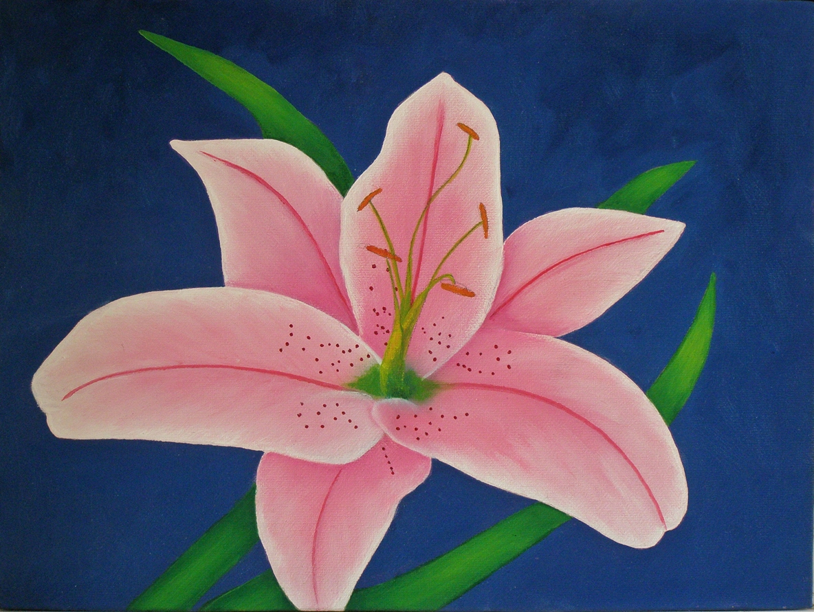 lily painting demo 1