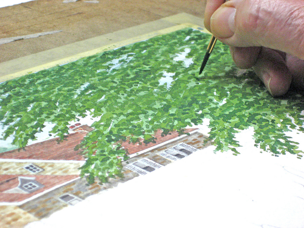 Learn to paint a watercolor landscape demo by john fisher for Video tutorial on watercolor painting