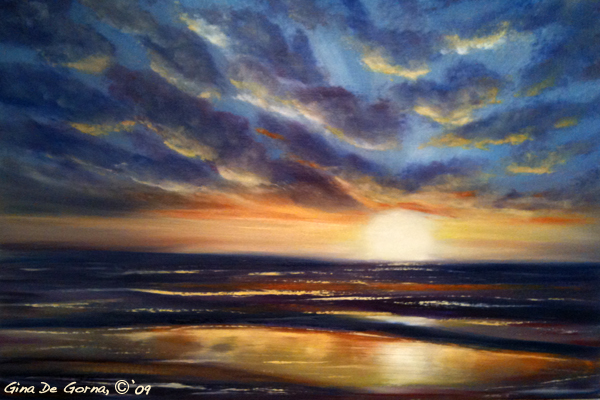 how to paint a sunset step by step easy