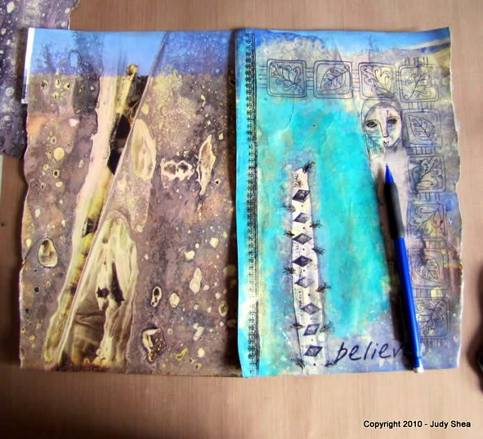 mixed media collage tutorial 10