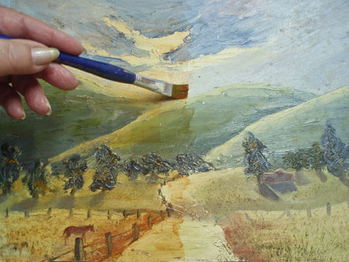 how to glaze with oil paint