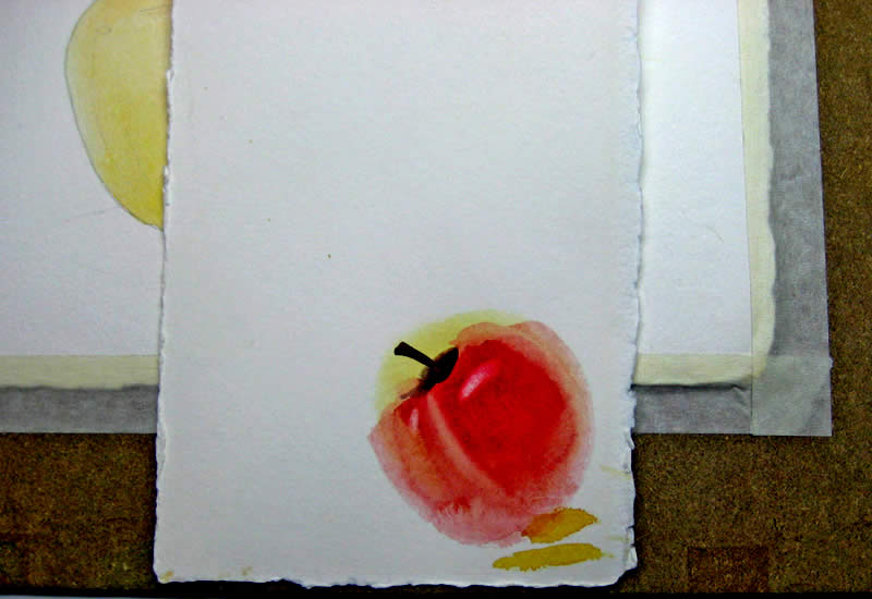 watercolor techniques apple 4