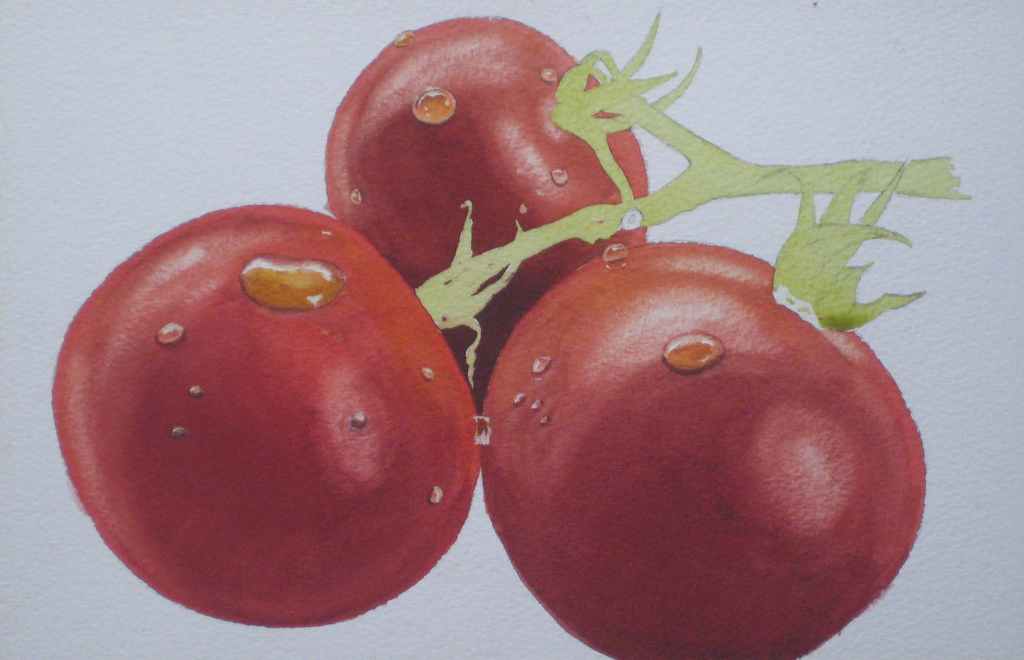 still life watercolor demo