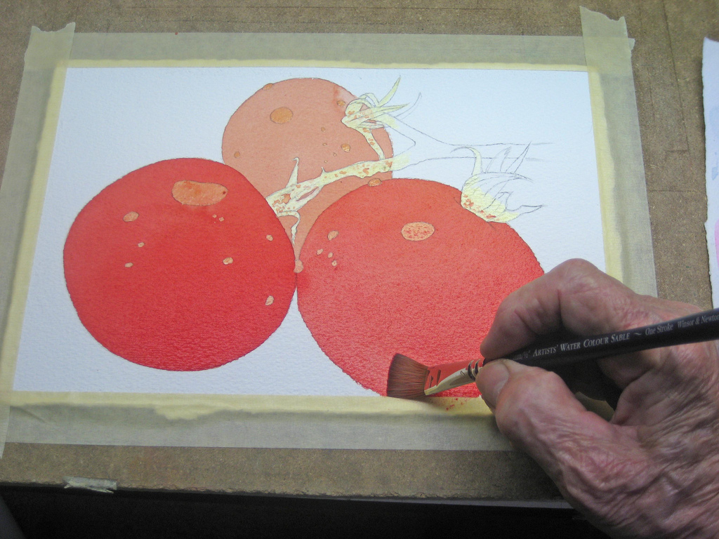 "Watercolour Still Life Tutorial - ""Tomatoes"""