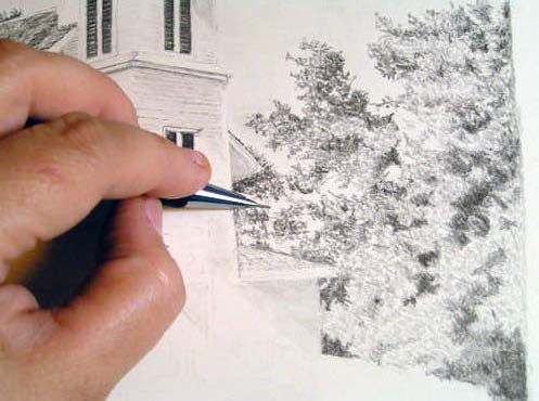 how to draw a tree easy