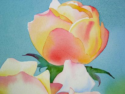 fazer flores de aquarela 5