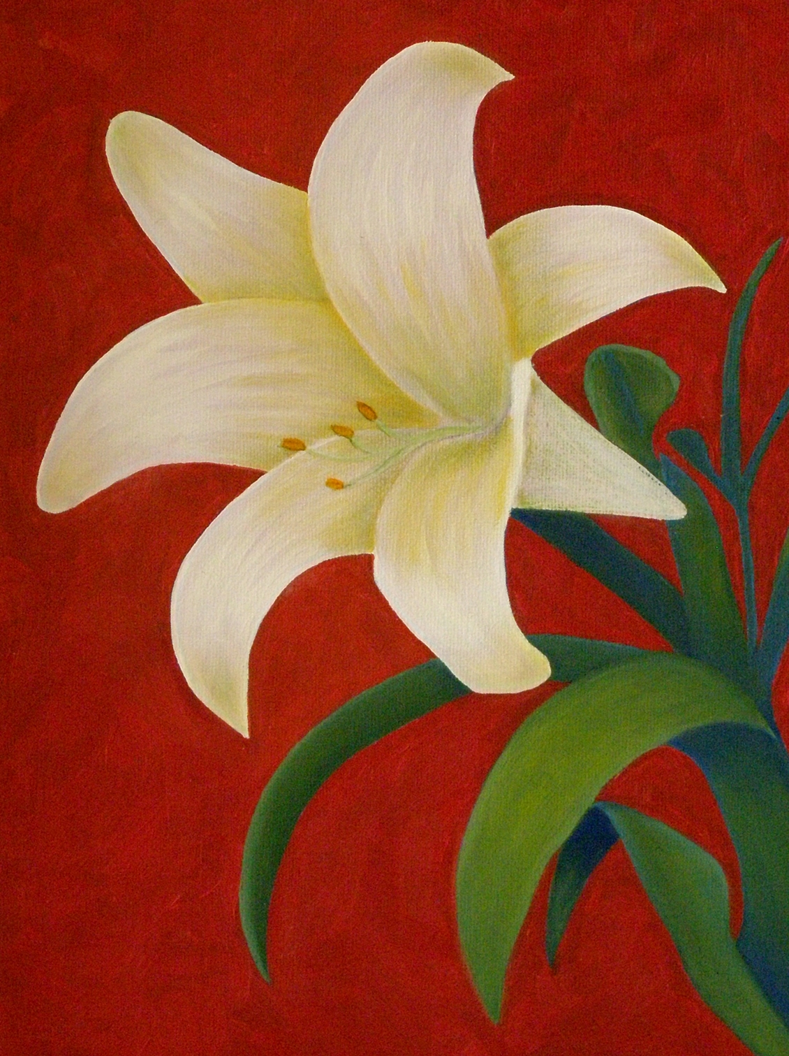 flower painting demo 5