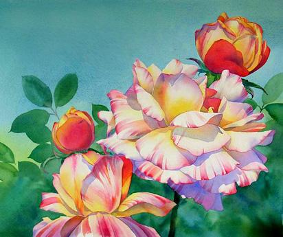 flor da aguarela demonstração 12